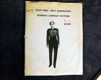 Star Trek Next Generation Women's Jumpsuit Pattern - Never Used - One of a Kind - Sizes 4 to 12