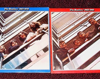 Beatles LPs 1962-1966 & 1967-1970 With Original Record Sleeves with Words Records Are In Great Condition Also