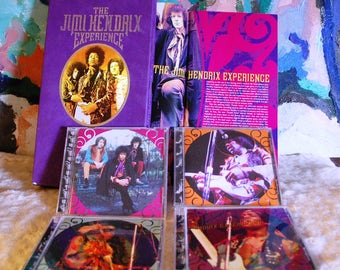 Remarkable The Jimi Henrix Experience 4 CD Set Music Biography and Book edited by Jani Hendrix!