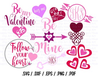 Valentine Day SVG Clipart, SVG Office Wall Art, DXF Holiday File, Vinyl Cutters, Screen Printing, Silhouette, Vinyl Cutting Clipart - CA408
