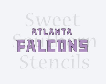 Atl Falcons Cookie Stencil