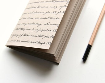 Travelers Notebook Insert, kraft paper notebook, journal, bullet journal, craft paper insert, Midori Travelers Notebook insert, sketchbook