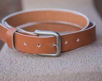The Boat Belt   Handmade in the USA   Brown Leather Belt  