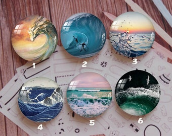 Handmade Round Photo glass Cabochons,8mm -58mm size Cute Animal Style Butterfly More-ZY898
