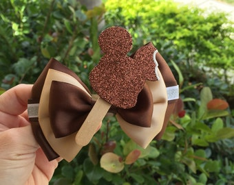 Mouse ice cream inspired hairbow