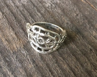 Size 7,5 Spoon ring in silver