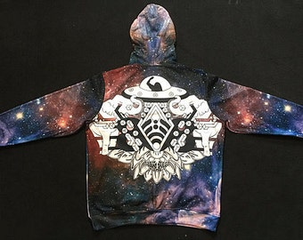 Pullover hoodie - Space Bass