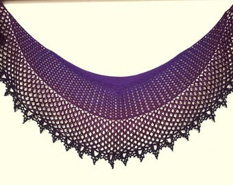 OOAK Crochet Gradient Lace Shawl