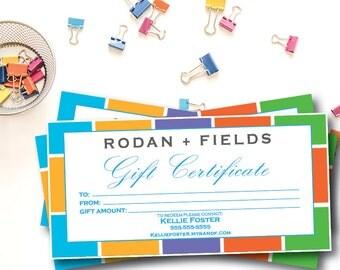 Rodan + Fields Gift Certificate DIGITAL FILE ONLY