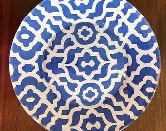 Royal Blue Glass Plates