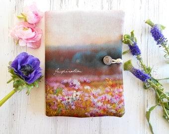 Portefeuille bohème, pochette tissu fleurs, paysage tissu, organiseur sac, pochette iPhone, portefeuille voyage, trousse sac, fête des mères