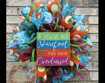 "NEW! - 'Barefoot"" metallic mesh wreath"