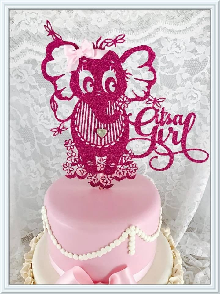 It 39 s a girl cake topper its a girl party decorations for It s a girl dekoration