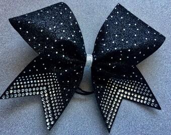 "3"" Rhinestone All Glitter Cheer bow"