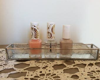 Stained Glass Tray Nail Polish Holder