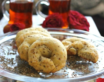 Anise Cookies, Handmade with Fresh Anise Herbs, 12-pcs, Low Fat, Low Sugar, 100% Natural