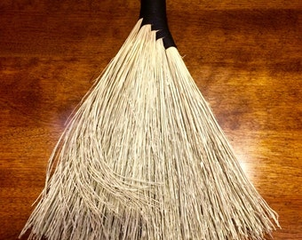 Gorgeous Whisk Broom, Hand Broom, Hand Held Broom, Artisan Broom, Folk Art, Home Decor, Fan Broom, Functional Art, Appalachian Broom, Besom