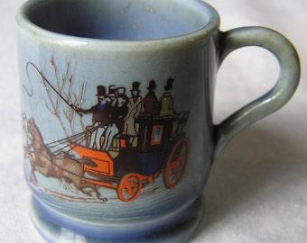 Wade Irish Porcelain Miniature Mug - Stagecoach