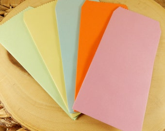 Plain DL Envelopes, Pack of 5, Long Envelopes, Colourful Envelopes, Scrapbooking Paper Envelopes, DIY Gift Bags