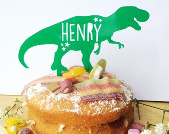 Personalised Cake Topper | Dinosaur | Multicoloured | Cake