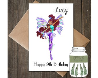 A5 Birthday Card, Fairy, Personalised