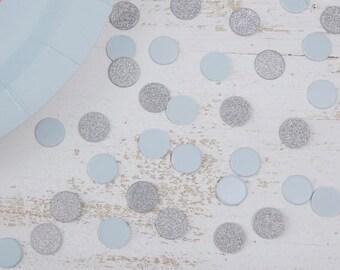 Blue & Silver Table Confetti - Pastel Perfection