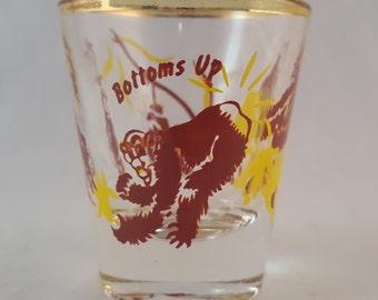 Bottoms Up Shot Glass - Monkeys