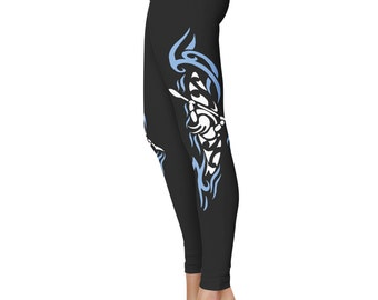 Kayak Girl Kayaking Paddle Leggings