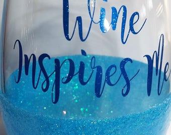 Glitter Wine Glass, Stemless Wine Glass, Glitter Stemless Wine Glass, Glitter dipped wine glass,Glittered Stemless Wine Glass