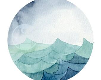 Aquarell Art Print - Watercoloredwaves 11