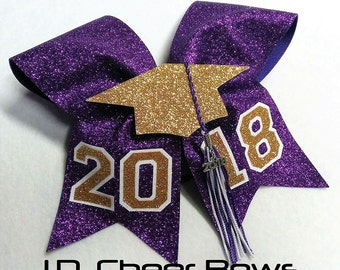 The Original 3D 2018 Graduate/Tassel Bow-Choose your Colors, Graduation Bow, Graduate Bow, Senior Bow, Senior Cheer Bow