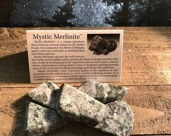 Mystic Merlinte hand cut polished crystal