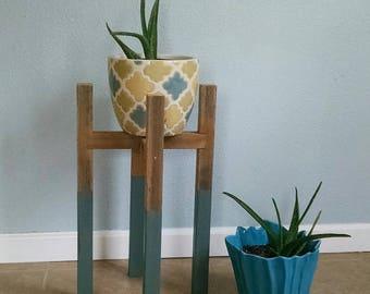 modern plant stand etsy. Black Bedroom Furniture Sets. Home Design Ideas