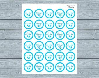 It's A Boy Baby Shower Printable Labels, Stickers, Envelope Seals (DIGITAL DOWNLOAD) 8 1/2 x 11 PDF File