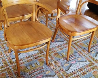Mid Century Modern Bent Wood Thonet Cafe Chairs