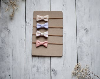 Sweet Lavender Mini Bow Set - The Adeline