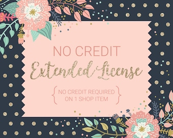 No Credit Extended License / No Credit Required on 1 Shop Item, Digital Stamp Set or Clip Art Set