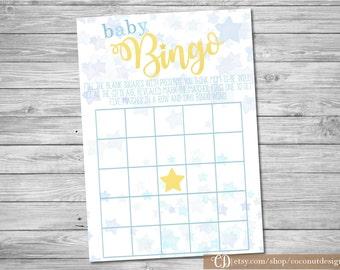 Bingo Baby Shower Game Printable / Twinkle Twinkle Bingo Baby Game / Bingo Baby Game / Instant Download / Digital File / LS02
