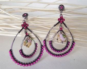 """pair of earrings, """"Marianne"""""""""""