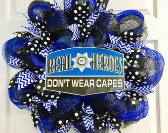 Police Lives Matter Wreath, Police Wreath, Blue Lives Matter Wreath