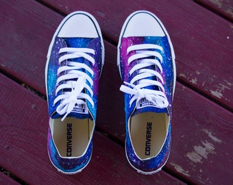 Hand painted Galaxy Converse Shoes