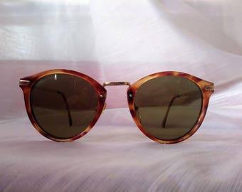 Vintage Sergio Tacchini Tortoise and Gold Sun Glasses