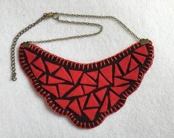 Colorful mosaic necklace