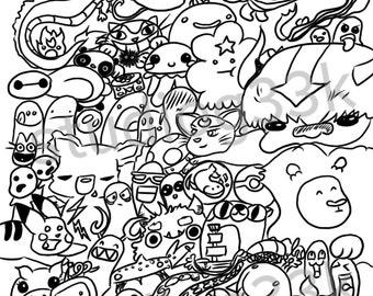 geek coloring pages geek coloring page etsy