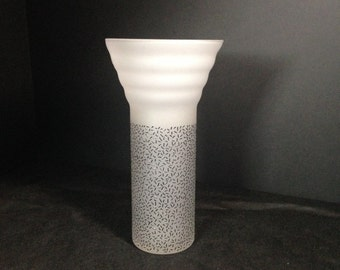Cristallerie SI-AN Made in Italy Vase,Cristallerie Vase,Frosted Italian Vase,Vase Made in Italy,Italian Glass Vase,Si-An frosted modern vase