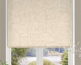 Extra Textured With Natural Linen In 3 Colours Custom Made Window Lino Roller Blind