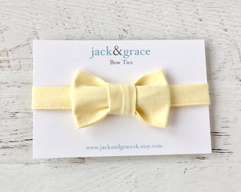 Baby Bow Tie- Yellow-Pastel- Bow Tie- Modern Bow Tie