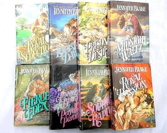 Jennifer Blake Eight Hardcover Vintage Romance Novels