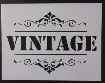 Vintage Sign Word Custom Stencil FAST FREE SHIPPING