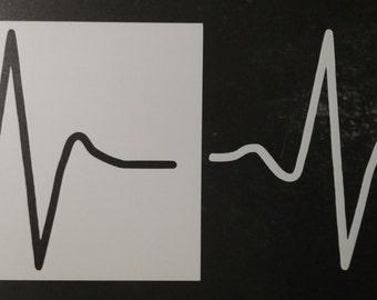 Heartbeat Monitor Heart Beat Custom Stencil FAST FREE SHIPPING